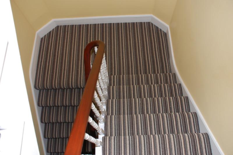 Striped Wool Carpet On Stairs In Ealing Portfolio